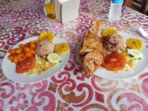 Comida en Bocas del Toro